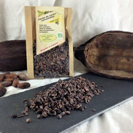 Les sachets d'éclats de fèves de cacao «Moronas»
