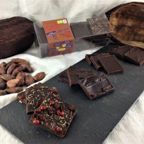 """Boite de dégustation de Chocolat bio 75% """"Fuego"""""""