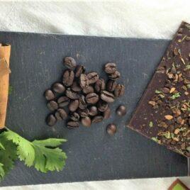 Le chocolat bio 75% cacao en vrac Café, cannelle et coriandre