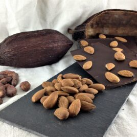Le chocolat bio 75% cacao amandes en vrac
