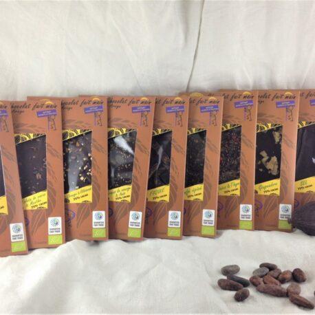 10 tablettes de chocolat 75%