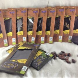 Assortiment des 12 tablettes de chocolat bio