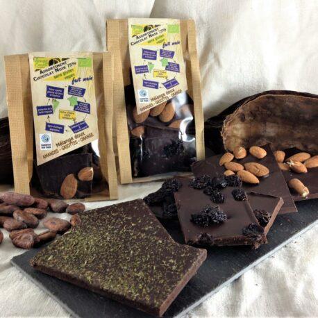 les sachets de chocolat 75% de mélange doux