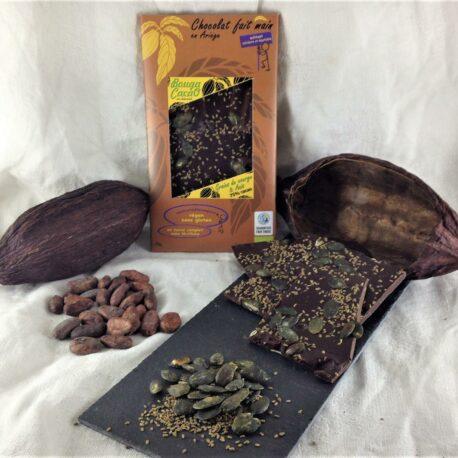 Tablette de chocolat 75% Anis et graine de courge