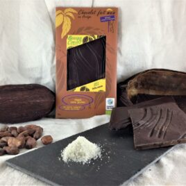 Tablette chocolat bio 75% cacao au sel de mer
