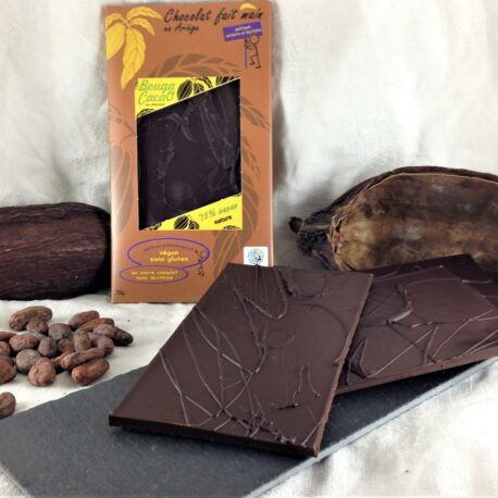 Tablette chocolat bio nature 75% cacao